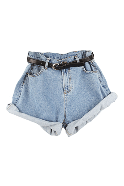 Roll Up Denim Shorts | Miss Iny