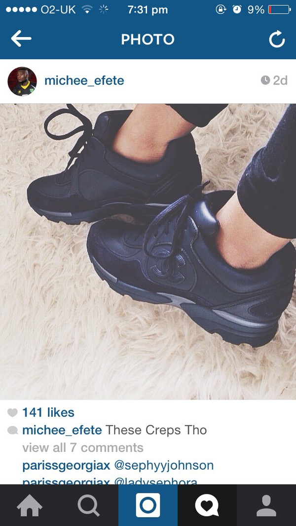 shoes chanel sneakers trainers sneakers chanel black sneakers