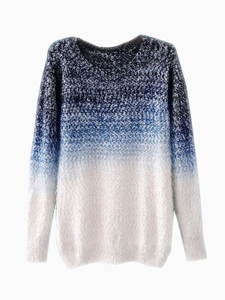Tie-Dyeing Vintage Sweater In Blue | Choies