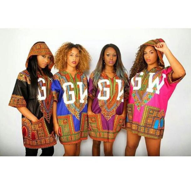 top t-shirt graphic tee african print black girls killin it dashiki