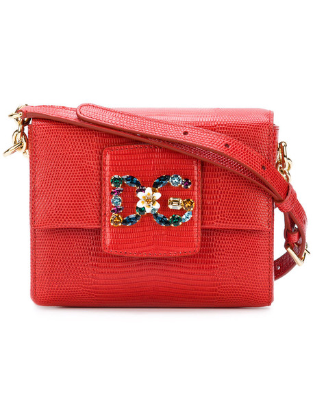Dolce & Gabbana metal women bag shoulder bag leather red
