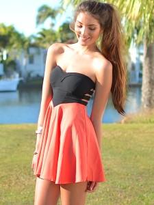 Lady Killer Dress (Orange) | Sparkly Dresses