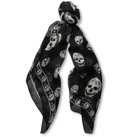 Alexander McQueen - Skull-Print Silk Scarf | MR PORTER