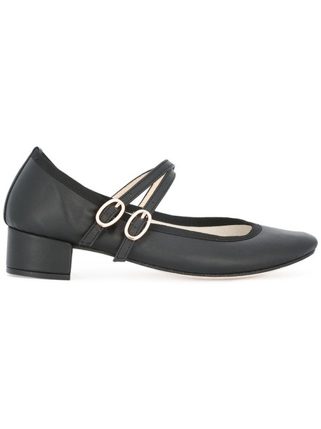 Repetto women pumps leather black shoes