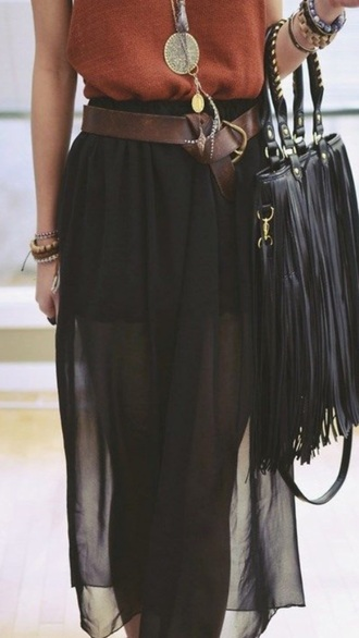 skirt black skirt black maxi skirt sheer maxi long long skirt
