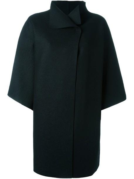 coat oversized women black wool