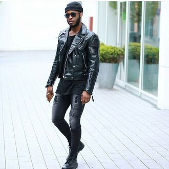 jacket maniére de voir leather jacket biker jacket jeans trendy fashion style kanye west menswear outerwear coat casual 36683