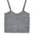 Gray Spaghetti Strap Crop Vest - Choies.com