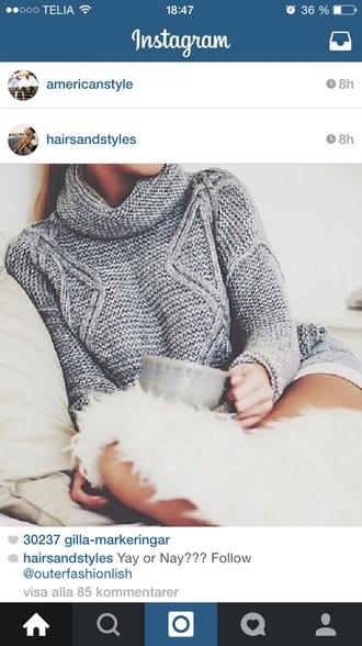 sweater knitwear highneck highneck sweater