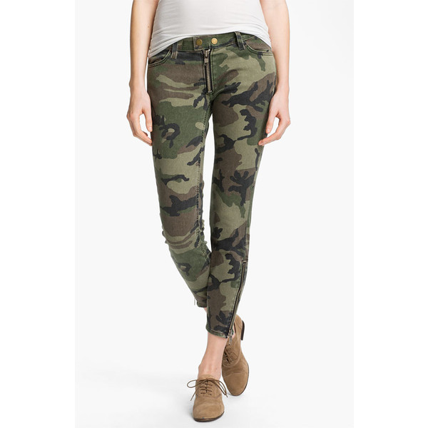TEXTILE Elizabeth and James 'Cooper' Skinny Camo Print Jeans... - Polyvore