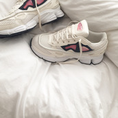 shoes,aesthetic,tumblr,sneakers,white,rose,cyber,pale,grunge,haute couture,raf simons,mens sneakers,adidas shoes,adidas,dope,trill,streetwear,streetstyle,light pink,pale pink shoes,white sneakers,pink shoes,pink sneakers,running shoes,running,tumblr shoes,tennis shoes,pink,sportswear,fitness,pastel,white shoes,ozweego 2