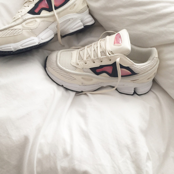 Shoes: aesthetic, tumblr, sneakers, white, rose, cyber ...