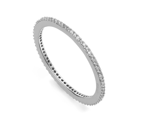 Diamond Eternity Ring | Silver Eternity Band | Monica Vinader