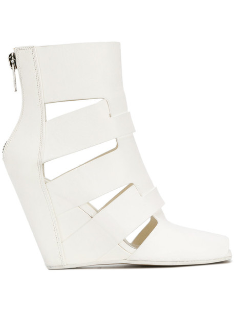 Rick Owens women sandals wedge sandals leather white shoes