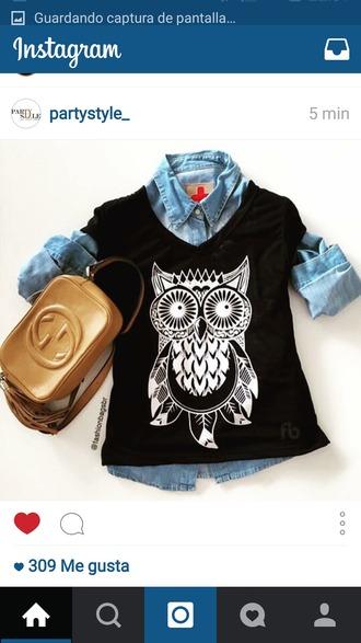 t-shirt lovely owl