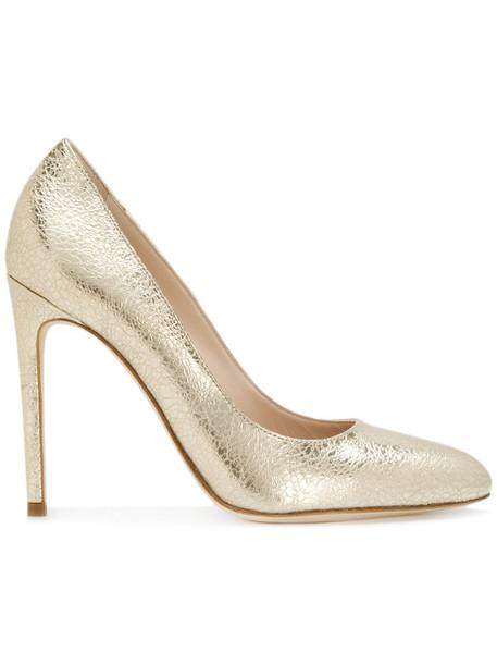 Twin-Set heel metallic women pumps leather grey shoes