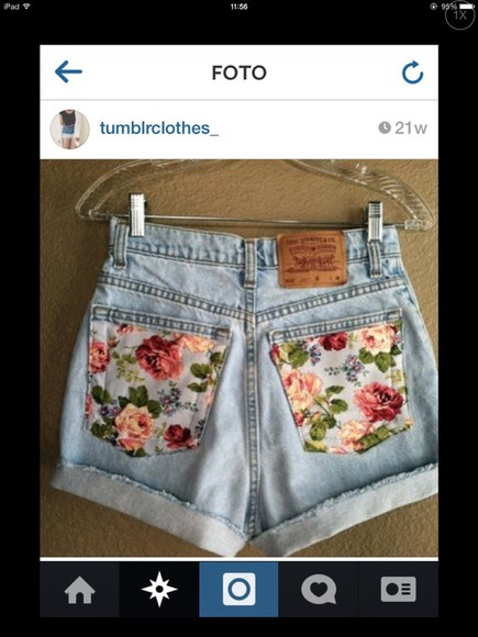 fashion clothes shorts floral floral shorts flowers skirt flowered shorts tumblr tumblr girl