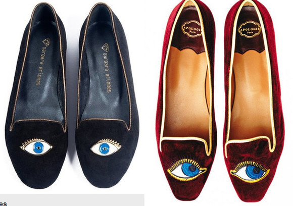 shoes ballerinas apologie- eye eyes kenzo Kenzo slippers