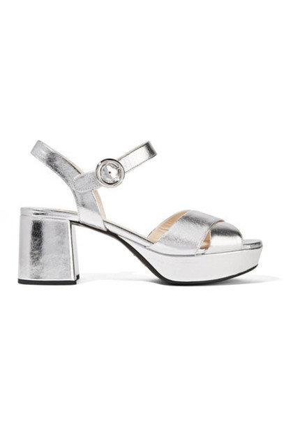 a328b061237 metallic sandals platform sandals silver leather shoes