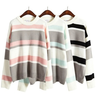 sweater fashion style jumper trendy long sleeves fall outfits cool teenagers stripes boogzel
