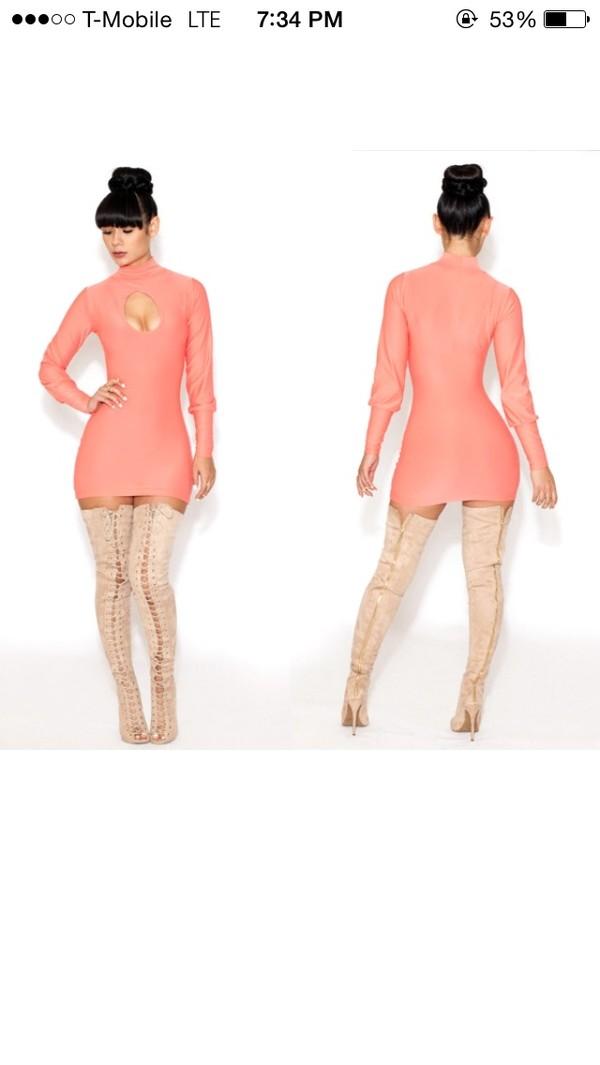 dress sexy party dresses sexy shoes peach dress club dress casual dress cute dress