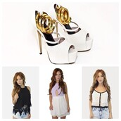 shoes,gold wrap heels,white heels,gold chain,top,shorts,ankle strap