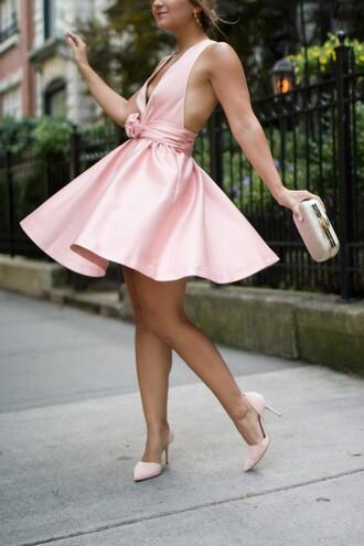 dress pink pink dress cocktail dress short hot pink dress party dress