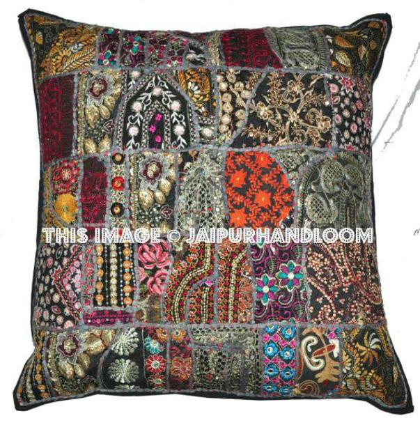 Home Accessory, Oversized Pillows, Black Cushion Cover, Dining Chair Cushion,  Indian Cushion, Handmade Cushion, Pillow, Bedroom Pillow, Large Floor  Cushions ...