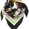 Floral printed silk scarf