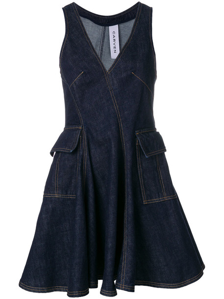 Carven dress mini dress mini women cotton blue