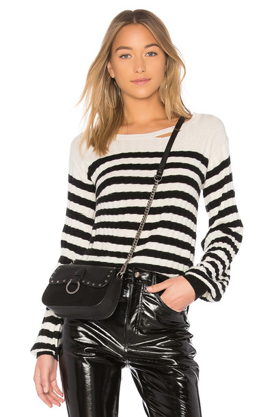 Pam & Gela sweater white black