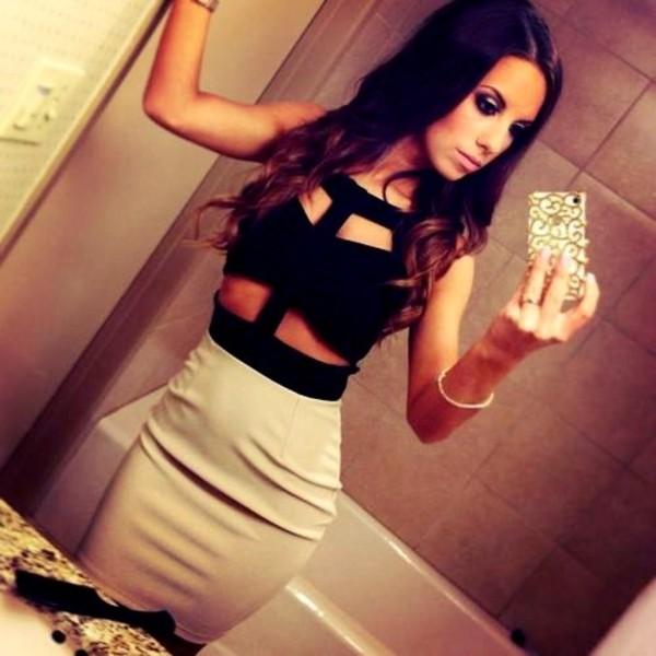 dress little black dress perfect black and beige blogger celebrity cute dress clothes dress