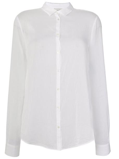 Forte Forte - ruched effect shirt - women - Silk/Cotton - 3, White, Silk/Cotton