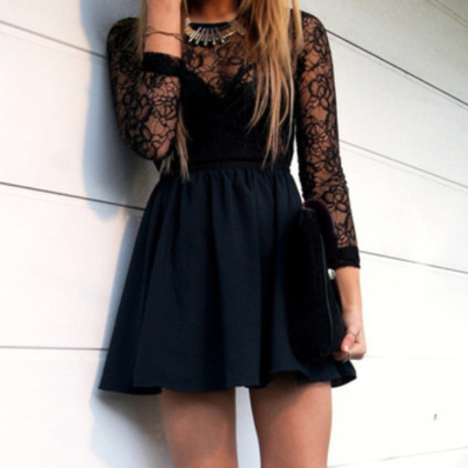 Dark Clothes Tumblr Dress Lace Clothes Tumblr