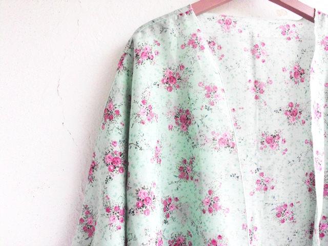 Floral kimono cardigan, pastel kimono, beach coverup, kimono jacket
