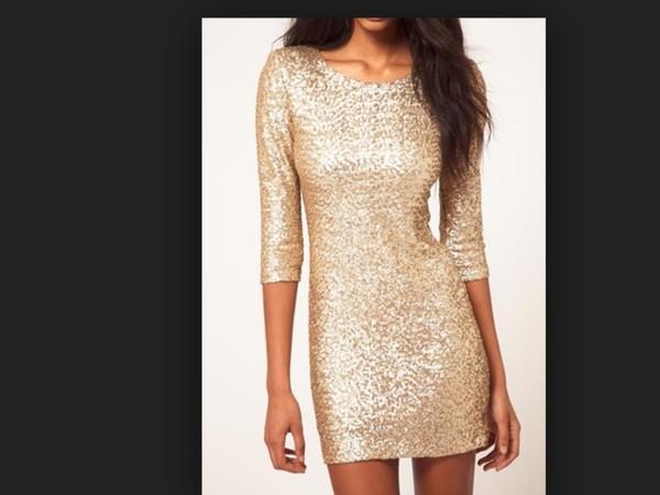 dress prom dress glitter gold
