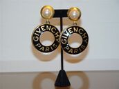 jewels,givency,hoop,pearl,earrings