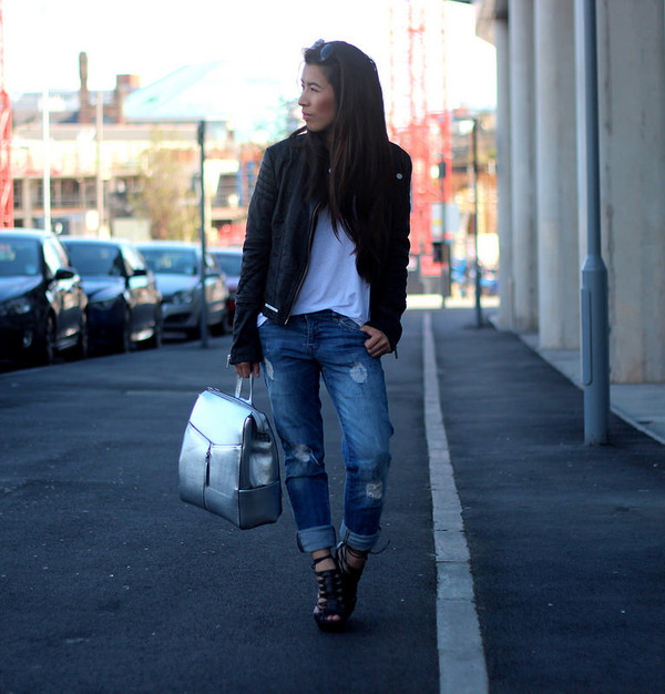 article 21 blogger jacket t-shirt jeans bag
