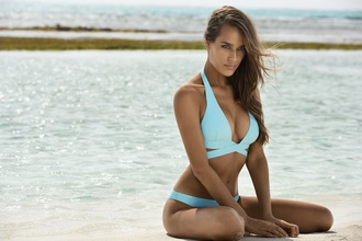swimwear light blue bikini wrap