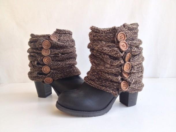Leggings: boot socks, knitted socks, women, cuff, trendy ...