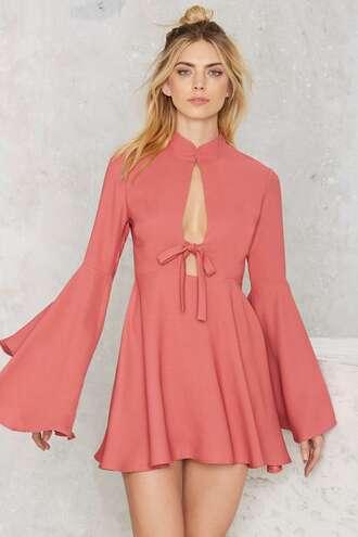 dress bell sleeves peach dress peach summer dress