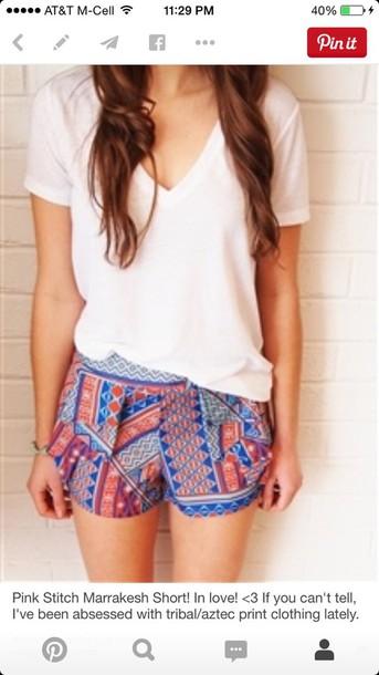 shorts colorful shorts tribal shorts summer shorts summer