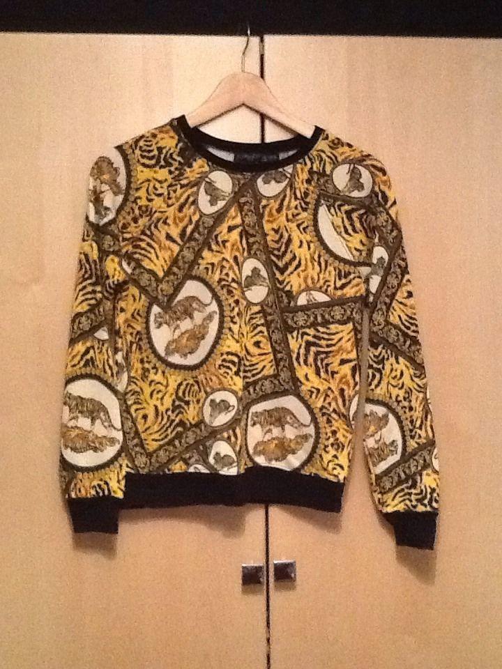 Topshop Tiger Print Sweatshirt | eBay