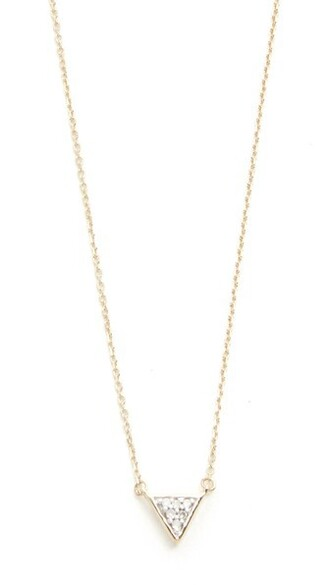 triangle clear necklace gold jewels