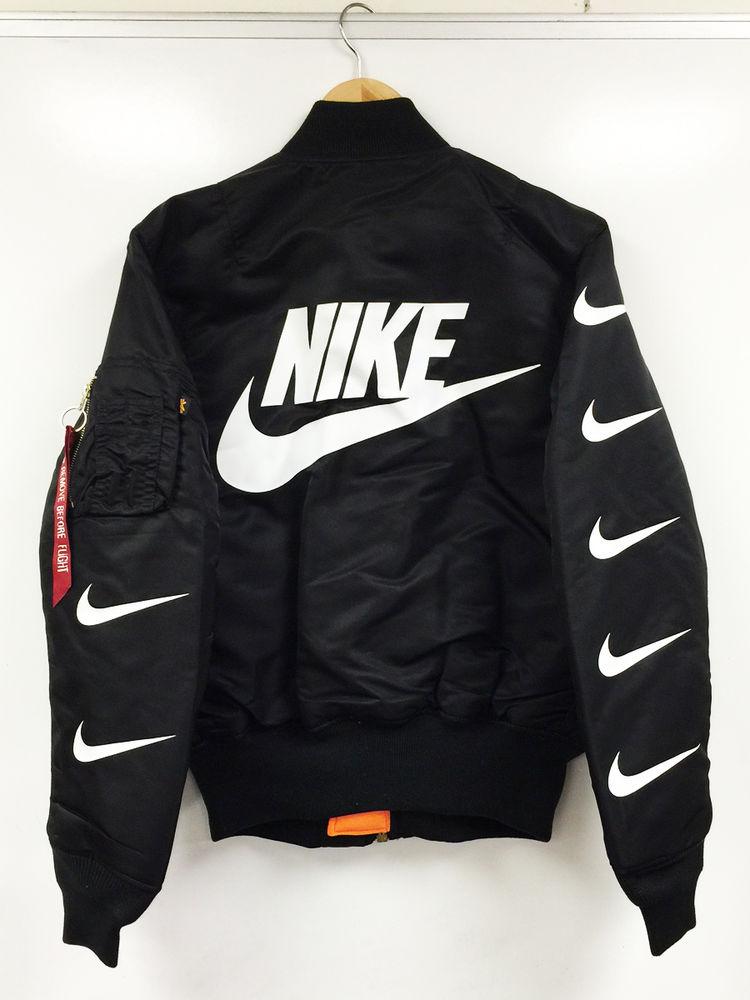 Alpha Industries Ma 1 Bomber Jacket Supreme Nike Bape Off