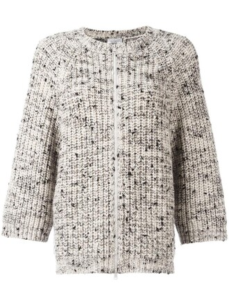 cardigan zip women nude silk sweater