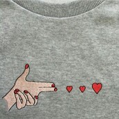 sweater,love,grey,heart,embroidered