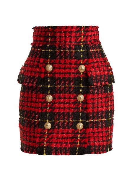 Balmain skirt mini skirt mini red