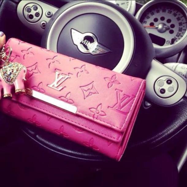 bag pink louis vuitton lv wallet