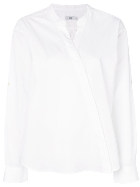 Closed shirt women white cotton top